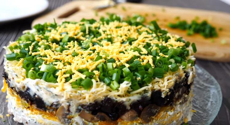Очень вкусный и простой салат «Осенний лес», который займет достойное место на Вашем праздничном столе