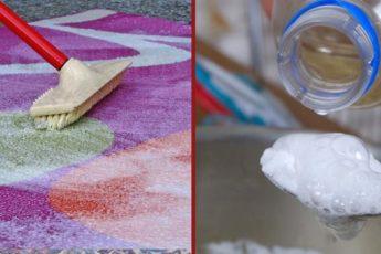 Простые решения чистки ковра в домашних условиях