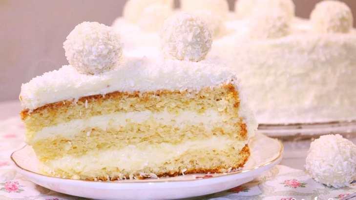 Торт «Рафаэлло» - совершенство вкуса