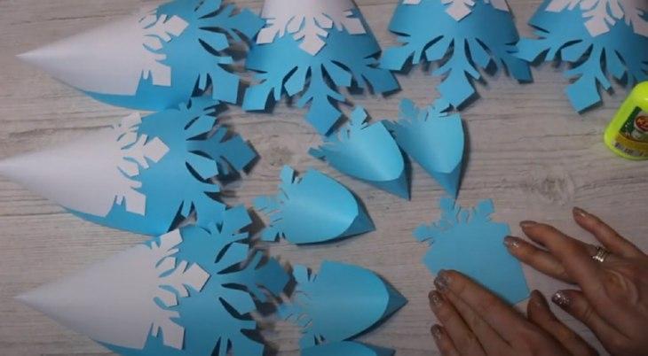 красивые объемные снежинки: все детали
