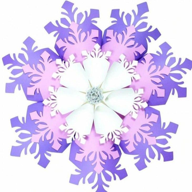 красивые объемные снежинки: варианты