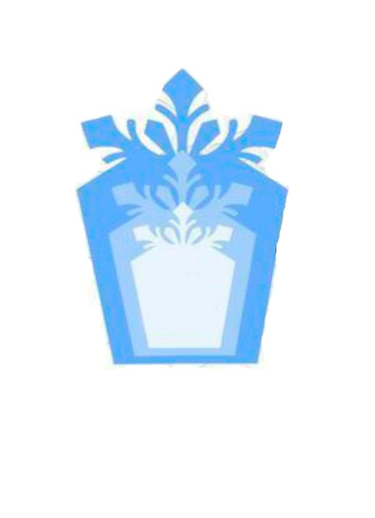 красивые объемные снежинки: шаблон