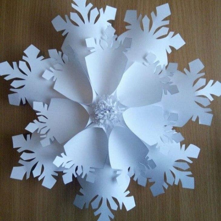 белая снежинка